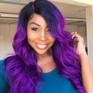 Purple lace front wig New with tags